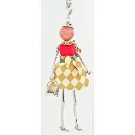 Collana Le Carose con bambola pendente campagnola
