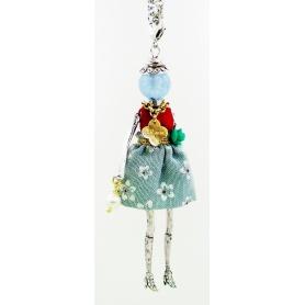 Die Carose-Halskette mit Anhänger und Puppe Kleid-Feder