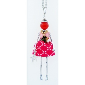 The Carose necklace with pendant pink doll
