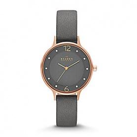 Orologio donna Skagen Anita rosè pelle grigio - SKW2267