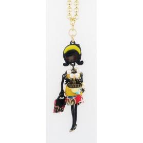Die Carose Flapperina Puppe Halskette gelb
