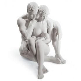 Skulptur in Porzellan Lladrò die Essenz des Lebens