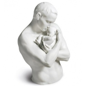 Sculpture in Porcelain Lladrò Father Protection