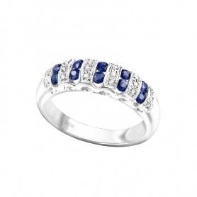 Ring Gold mit Diamanten und Saphiren Bliss blau-20,003,629