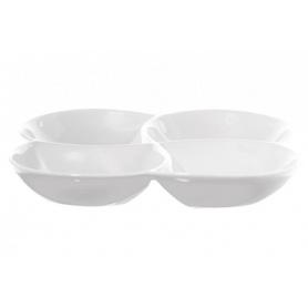 Weiße Porzellan Teller Bankett vier Fächer
