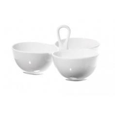 White Porcelain dish Banquet to three bowls