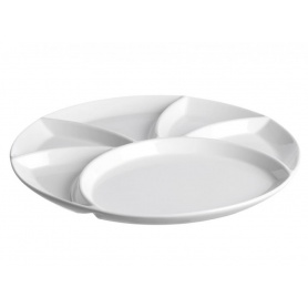 Weißes Porzellan Fondue Topf Schüssel Bankett