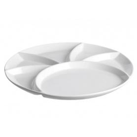 White Porcelain Fondue Pot Dish Banquet