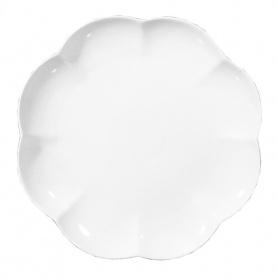 Rundes weißes Porzellan Tablett Villa dei Fiori