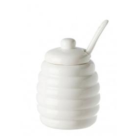 Weißes Porzellan Zuccheiera