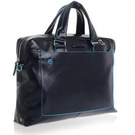 Piquadro cartella porta pc due manici pelle blu - CA3335B2/BLU2