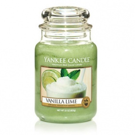 Large candle Yankee Candle with glass container