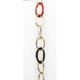 Bracciale Fidia a catena in Argento dorato con smalto - B696/G