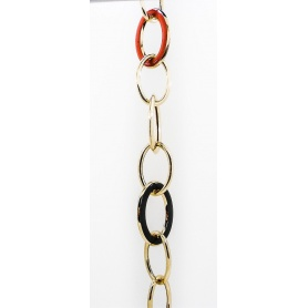 Gold-plated silver chain bracelet Phidias with enamel-B696/G