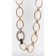 Rose zircon silver chain necklace Phidias-C661/R