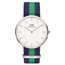 Orologio Daniel Wellington uomo silver Classic Warwick blu e verde