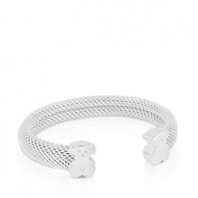 Bracciale semirigido Tous Mesh in argento - 711900030