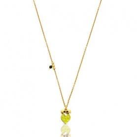 612,632,530-green enamel Heart Necklace Tous Face
