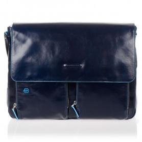 Piquadro blue leather Messenger Blue Square-CA3337B2/Blue2