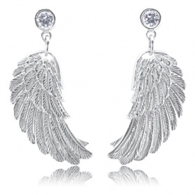 Engelrufer Flügel Ohrringe in Silber mit Zirkonen