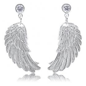 Engelsrufer Wing earrings in silver with Zircons