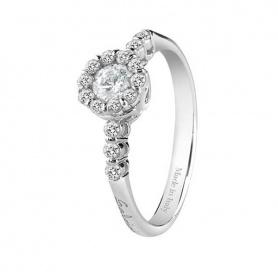Anello Salvini Corona con diamante centrale e contorno