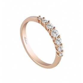 Rose Gold Brillantring Diamant Ewigkeit Salvini Moonlight