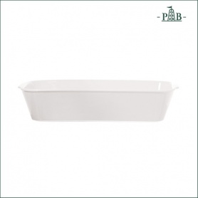 Abgerundete rechteckige weiße Porzellan Anghiari