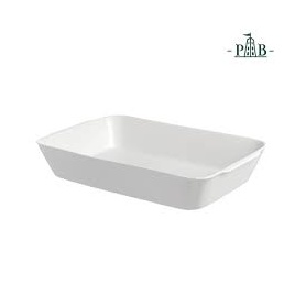 Rounded Rectangular White Porcelain Anghiari