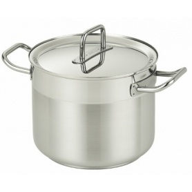 Pot with lid Magristra line steel Serafino Zani 20cm