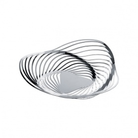 Alessi Trinity polished steel fruit bowl-ACO03