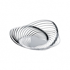Alessi Trinity polished steel fruit bowl-ACO03