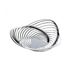 Alessi Trinity polished steel Basket-ACO02