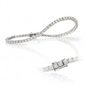 Crieri weiße Gold und Diamond Tennisarmband