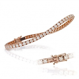 Crieri rose gold and diamond Tennis bracelet
