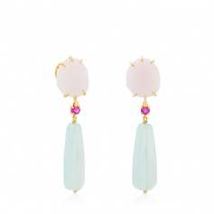 Tous earrings gold gemstone Ethereal - 612613000