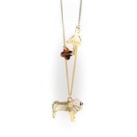 Die Carose-Halskette mit Anhänger Bulldog