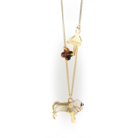 The Carose necklace with pendant Bulldog