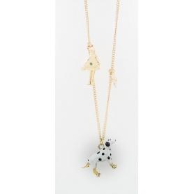 Collana Le Carose con pendente cane dalmata
