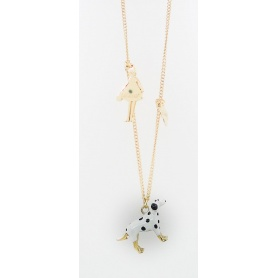 The Dalmatian dog pendant necklace Carose