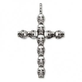 Ciondolo Croce Thomas Sabo con Teschi - PE66000112