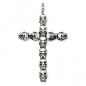 Thomas Sabo cross pendant with skulls - PE66000112