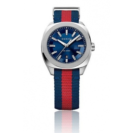 8a02a93e338 Mens Gucci Watch Red strap blue GG2570-YA142304