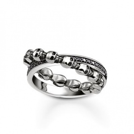 Thomas Sabo double Ring with skulls-TR21046431154