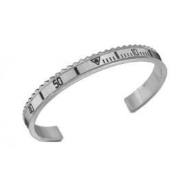 Bracciale Speedometer bianco in acciaio lucido