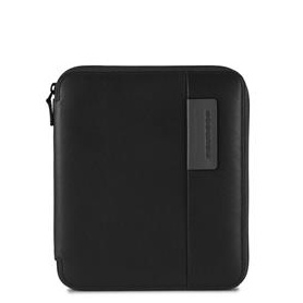 Piquadro black AC3749P15/N line Pulse A5 document holder