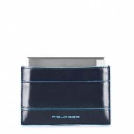 Piquadro Power bank con custodia in pelle Blue Square