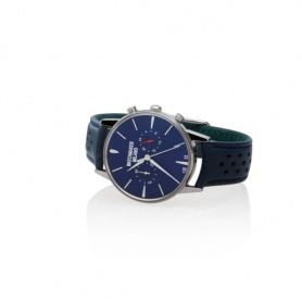 Vintage Uhrmacher Milan Chrono blau