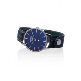 Vintage Uhrmacher Milano blau Mondphasen