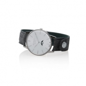 Vintage grau Mondphasen Uhrmacher Milano